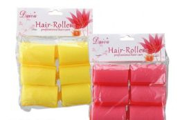 100 Bulk Professional Hair Rollers 6 Piece