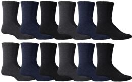 36 Bulk Yacht & Smith Men's Winter Thermal Tube Socks Size 10-13