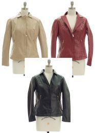 24 Bulk Womens Faux Leather Jacket