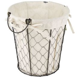 24 Bulk Wire Basket With/ Cotton Liner
