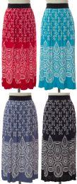 24 Bulk Printed Skirt Assorted
