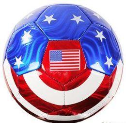 10 Bulk Official Size Metallic Usa Flag Soccer Balls