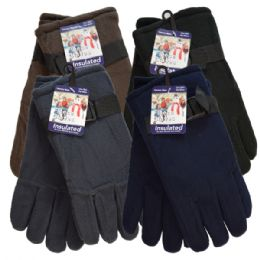 36 Bulk Winter Fleece Glove Men hd
