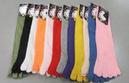 60 Bulk Womens Solid Color Toe Socks