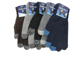72 Bulk Mens Wool Touch Screen Thermal Winter Gloves