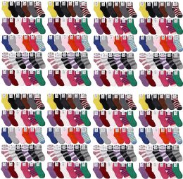 120 Bulk Yacht & Smith Women's Solid Colored Fuzzy Socks Assorted Colors, Size 9-11