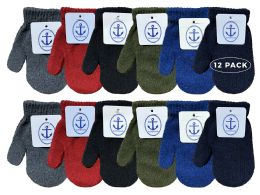 12 Bulk Yacht & Smith Kids Warm Winter Colorful Magic Stretch Mittens Age 2-8