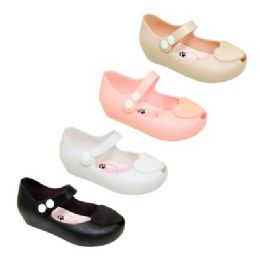 48 Bulk Girl's Mary Jane Shoes In Assorted Colors