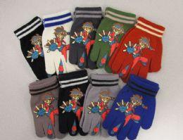 240 Bulk Boys Printed Glove