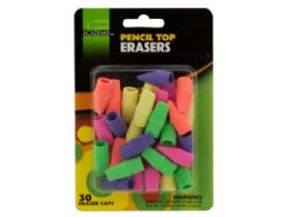 72 Bulk Pencil Top Erasers Set