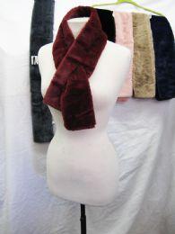 48 Bulk Womens Fashion Fur Scarf