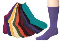 60 Bulk Mens Bright Color Dress Socks Size 10-13