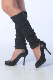 60 Bulk Womens Thick Heavy Legwarmers In Charcoal Gray