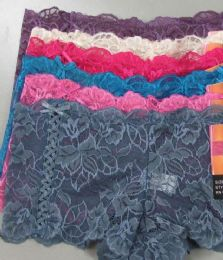 120 Bulk Ladies Lace Boxer With Bowtie