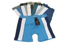 144 Bulk Mens Cotton Boxer Briefs In S-xl