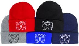 48 Bulk Ski Hat Dope With Hands