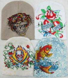 96 Bulk Ski Hat Four Styles Assorted