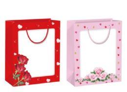 144 Bulk Gift Bag With Window Xlarge Valentines