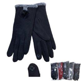 24 Bulk Women's PlusH-Lined Touch Screen Gloves