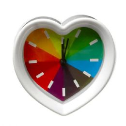 36 Bulk Rainbow Heart Design Clock