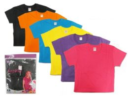 36 Bulk Lady's Crew Neck Shirt