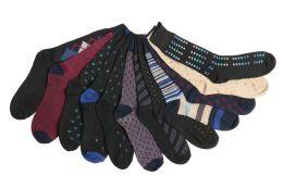 60 Bulk Mens Elegant Patterned Dress Socks