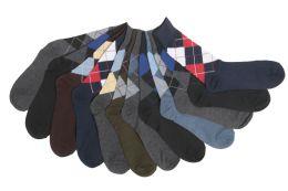 60 Bulk Mens Argyle Dress Socks