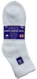 6 Bulk Yacht & Smith Women's Diabetic Cotton Ankle Socks Soft NoN-Binding Comfort Socks Size 9-11 White