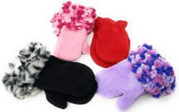 72 Bulk Colorful Infant & Toddler Assorted Mittens