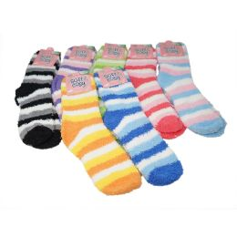 144 Bulk Winter Super Soft Warm Women Soft & Cozy Fuzzy Socks - Size 9-11