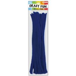 144 Bulk Forty Count Tinsel Stems Dark Blue