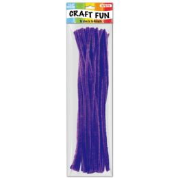 144 Bulk Forty Count Tinsel Stems Dark Purple