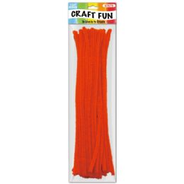 144 Bulk Forty Count Tinsel Stems Orange