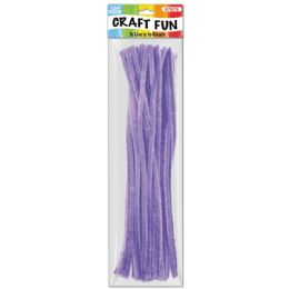 144 Bulk Forty Count Tinsel Stems Purple