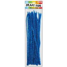 144 Bulk Forty Count Tinsel Stems Blue