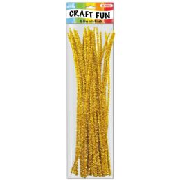 144 Bulk Forty Count Tinsel Stems Yellow