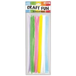144 Bulk Thirty Count Chenille Stems Pastel Colors