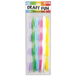 144 Bulk Twenty Count Chenille Stems Light Colors