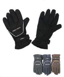 72 Bulk Men Thermal Lining Waterproof Winter Ski Gloves