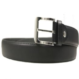36 Bulk Mens Black Dress Belt Assorted Sizes