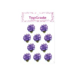 144 Bulk Satin Flowers Purple
