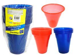 24 Bulk 12 Piece Plastic Tumbler Cups