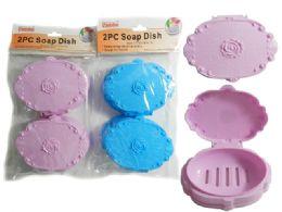 24 Bulk 2 Piece Soap Dishes