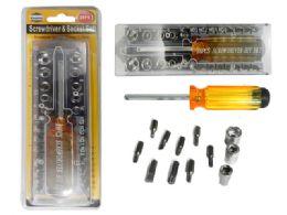24 Bulk 28 Pc Screwdriver & Socket Set