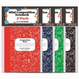 144 Bulk Mini Composition Book Two Pack Eighty Pages Assorted Colors