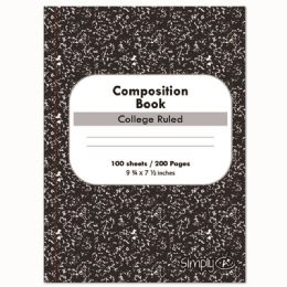 96 Bulk One Hundred Count Composition Book College Ruled