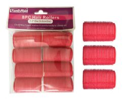 96 Bulk 8pc Cling + Foam Hair Rollers