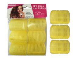 96 Bulk 6 Piece Cling Hair Rollers