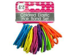 72 Bulk Colored Elastic Hair Bands Set