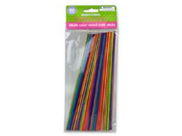 72 Bulk MultI-Color Wood Craft Sticks 80 Pack